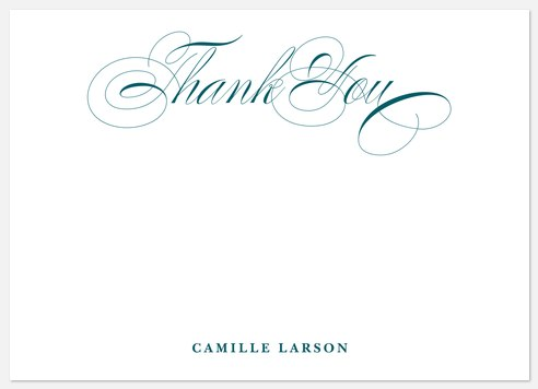 Flourished Elegance Thank You Cards