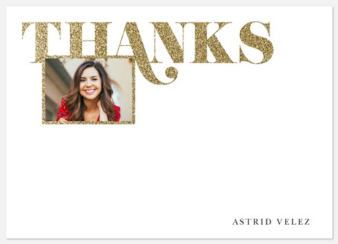 Grand Glitter Thank You Cards
