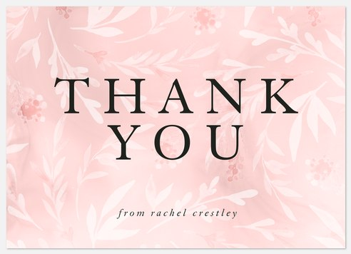 Fresh Floral Thank You Cards