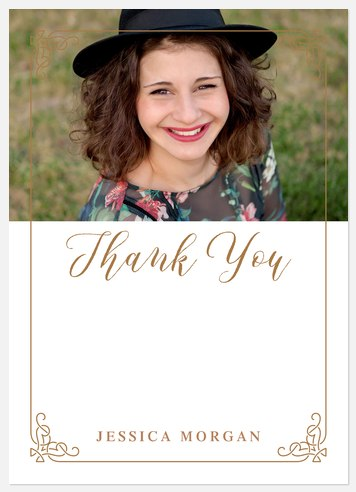 Ornate Frame Thank You Cards