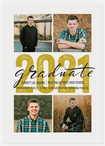 Stenciled Year Graduation Cards