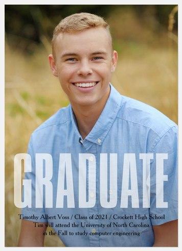 Bold Graduate Graduation Cards