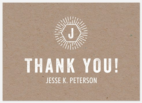 Hipster Monogram Thank You Cards