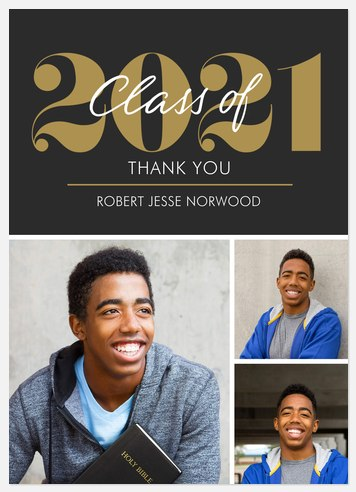 Notable Grad Thank You Cards