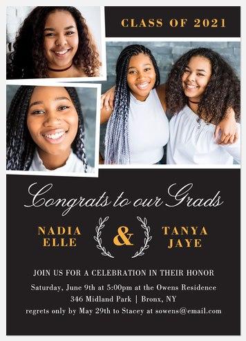 Double Congrats Graduation Cards