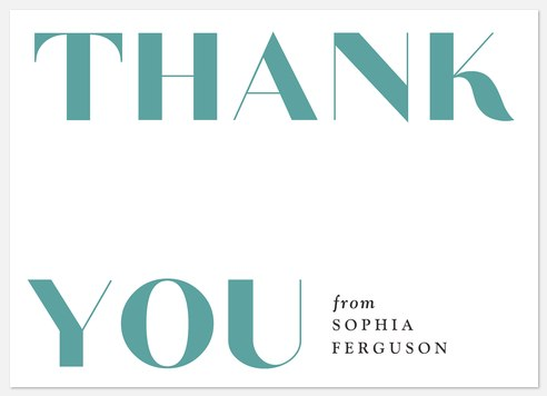 Statement Gratitude Thank You Cards