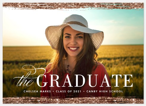 Glittering Achievement Graduation Cards