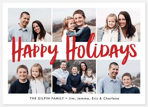 Candy Cane Greetings Holiday Photo Cards