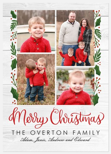 Berries & Birch Holiday Photo Cards