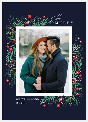 Fresh Wintergreen Holiday Photo Cards