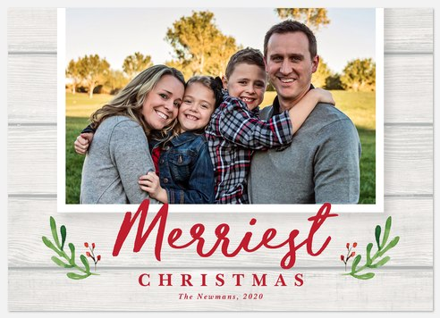 Rustic Cheer Holiday Photo Cards
