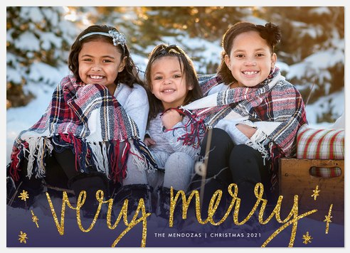 Golden Glimmer Holiday Photo Cards