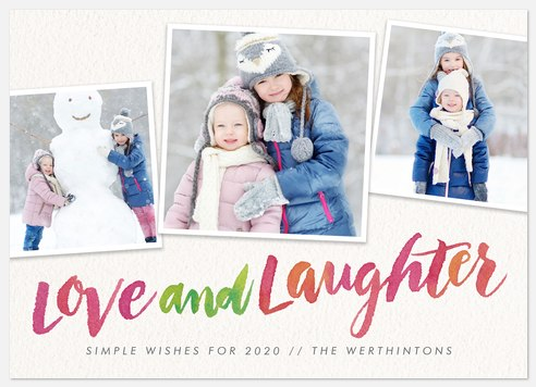 Cheerful Colors Holiday Photo Cards