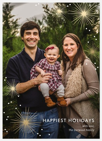 Starburst Sparkle Holiday Photo Cards