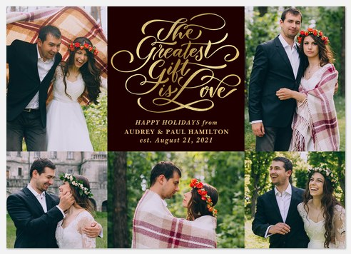 Gift of Love Holiday Photo Cards