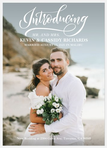 Lovely Introduction Wedding Announcements