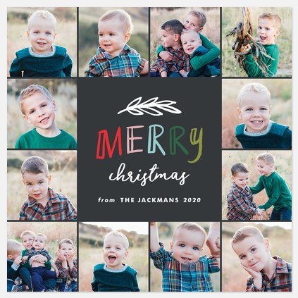 Playful Merry Holiday Photo Cards