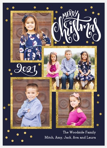 Gilded Confetti Holiday Photo Cards