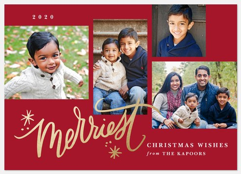 Gilded Merriment Holiday Photo Cards
