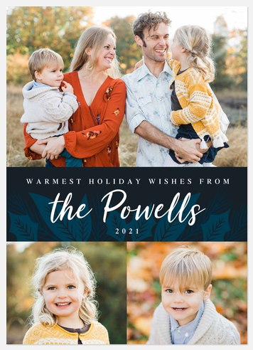 Midnight Spruce Holiday Photo Cards