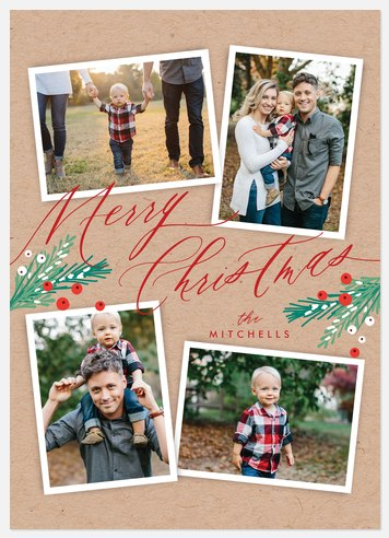 Crafted Pines Holiday Photo Cards