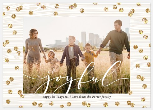 Confetti Print Holiday Photo Cards