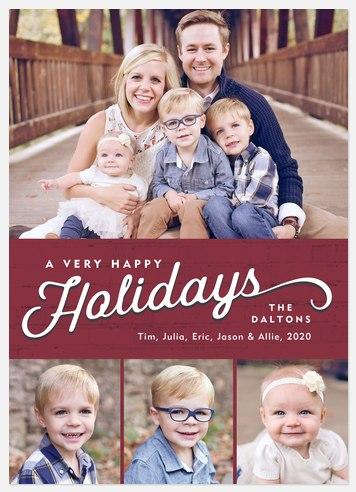 Brick Chimney Holiday Photo Cards