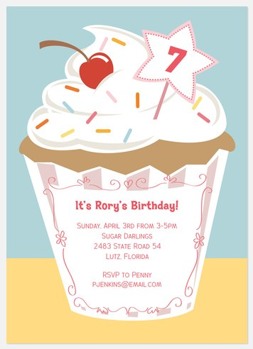 With Sprinkles Kids' Birthday Invitations
