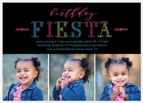 Fun Fiesta Kids' Birthday Invitations