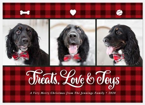 Treats and Love Holiday Photo Cards