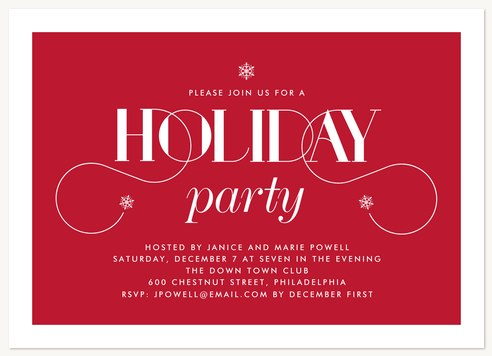 Elegant Soiree Holiday Party Invitations