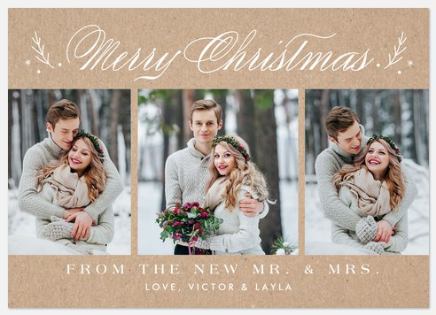 Married Trio Holiday Photo Cards