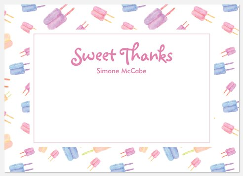Sweet Pops Thank You Cards
