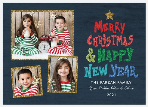 Merry Rainbow Holiday Photo Cards