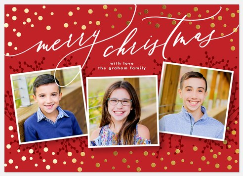 Whimsy Dots Holiday Photo Cards