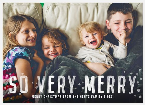Rustic Stamp Holiday Photo Cards