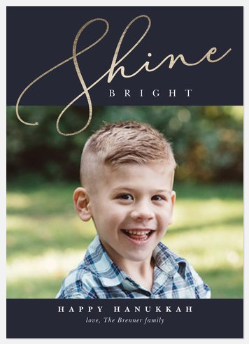 Shining Brightly Hanukkah Photo Cards