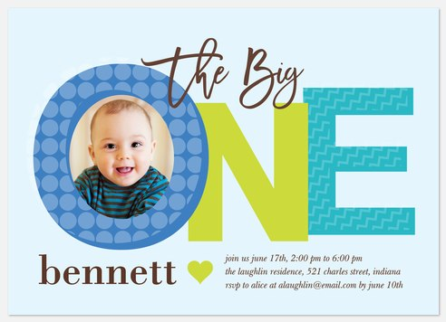 Pattern Mix Kids' Birthday Invitations