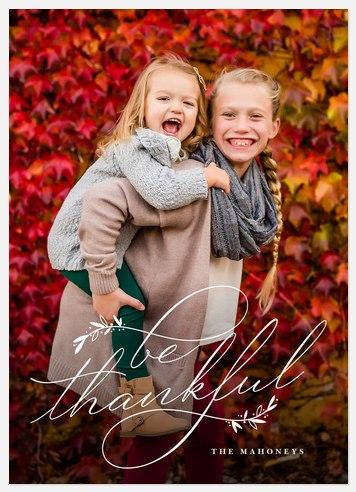 Thankful Foliage Thanksgiving Cards