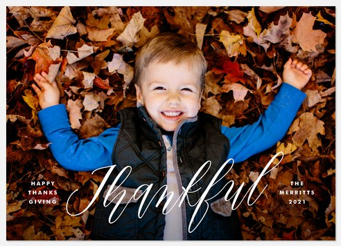Scripted Thankful Thanksgiving Cards