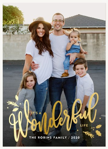 Very Wonderful Personalized Holiday Cards