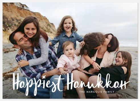 Happiest Hanukkah Hanukkah Photo Cards