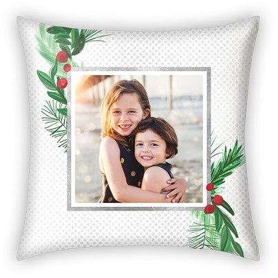 Modern Mistletoe Custom Pillows