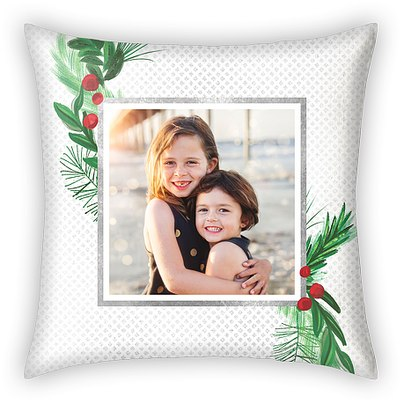 Modern Mistletoe Custom Pillows
