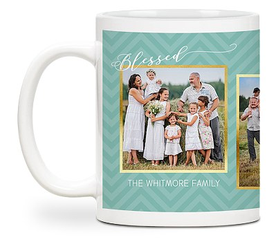 Blessed Chevron Custom Mugs