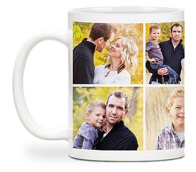 Eight Photo Custom Mugs