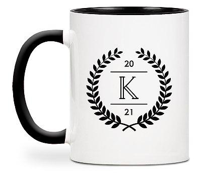 Laurel Initial Custom Mugs