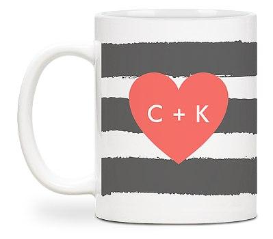 Painted Stripe Custom Mugs