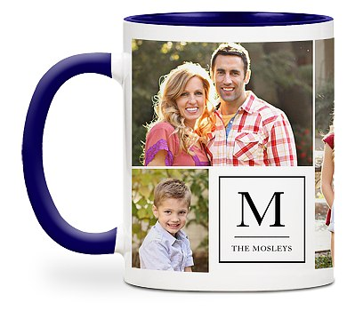Classic Monogram Custom Mugs