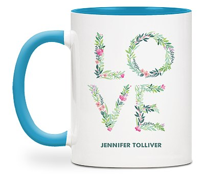 Blossoming Love Custom Mugs